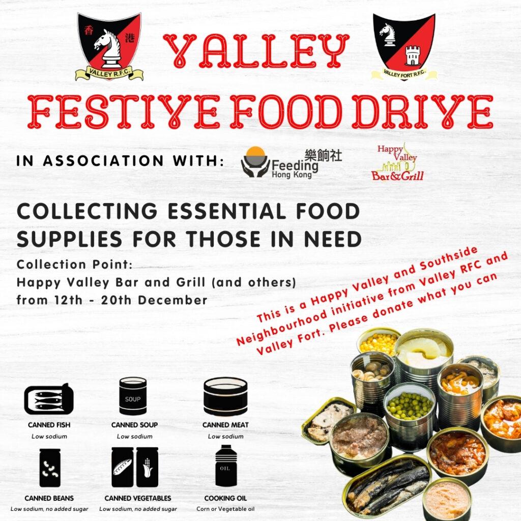 Valley Festive Food Drive for Feeding Hong Kong